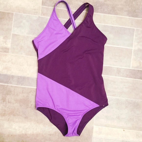 4e33a7cc0d Lands' End Swim | Lands End Kids Purple Color Block Suit | Poshmark
